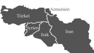 Die Siedlungsgebiete der Jesiden
