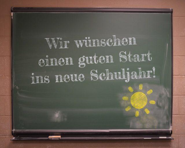 Wir heißen alle willkommen und wünschen einen guten Start ins neue Schuljahr!
